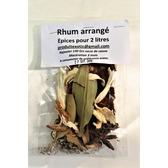 Rhum arrangé, préparation aux épices brutes  pour 2 l,  Sans sucre ,  sachet