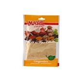 Gingembre moulu, Mayil, sachet de 25 grammes, 100% naturel, sans additif ni conservateur, certifié ISO 9001.
