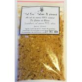 ''Sel fou'' Safran jaune - Piment © au gros sel de source 100% naturel de Salies de Béarn , recharge 85 gr.