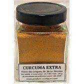 Curcuma Extra de la Réunion, safran jaune, qualité extra de la Plaine des Gregs,  pot en verre 140 grammes.