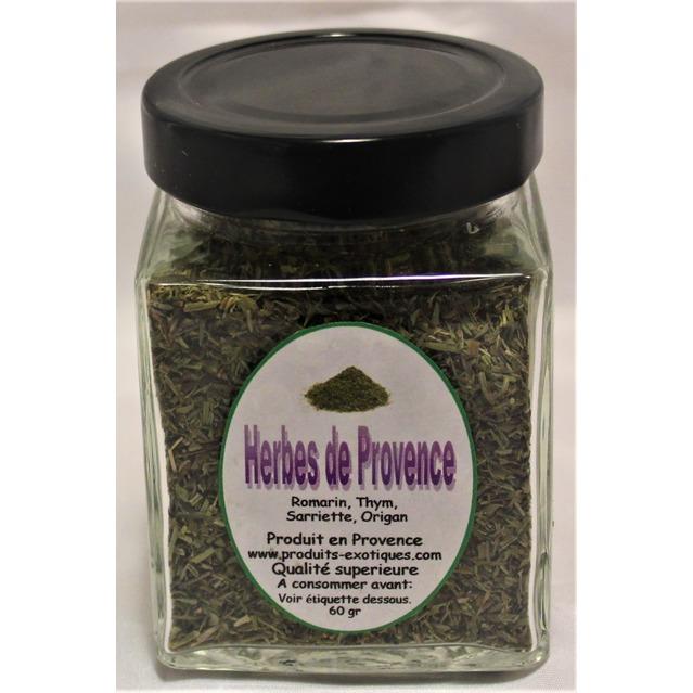 Herbes de Provence qualité supérieure, pot en verre 60 gr