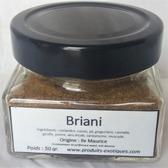 Briani special mélange d'épices dans pot en verre, 50 gr