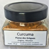 Curcuma de la Réunion, Safran jaune, en vrac.