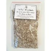 ''Sel fou'' Ail & Basilic © au gros sel de source 100% naturel de Salies de Béarn , recharge 85 gr.
