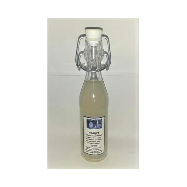 Vinaigre au piment Habanéro & combava, bouteille en verre 50 ml