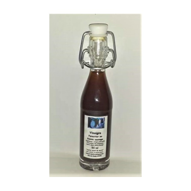 Vinaigre Forestier, bolet et cèpes au poivre sauvage, bouteille en verre 50 ml