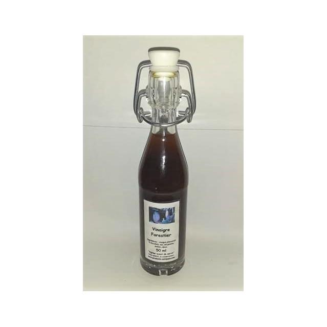 Vinaigre Forestier aux bolets et cèpes, bouteille en verre 50 ml