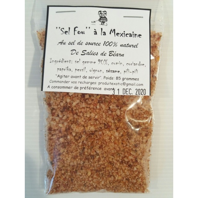 ''Sel fou'' Mexicain au gros sel de source 100% naturel de Salies de Béarn