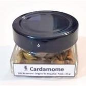 Cardamome en graines (Elaïti) 20 grammes dans pot en verre.