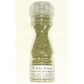 ''Sel fou'' à l'ail des Ours © au gros sel gemme 100 % naturel , moulin en verre 85 gr