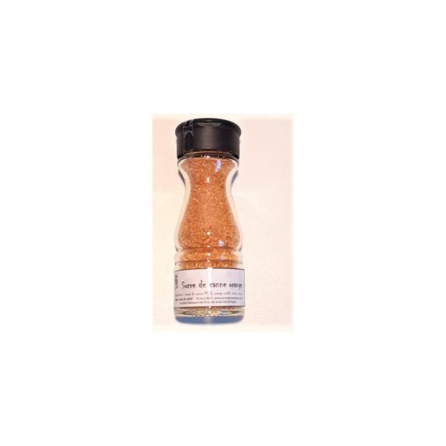 Sucre de canne aux orange confits, saupoudreur 85 gr