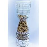 ''Sel fou'' 5 Baies © au gros sel de source 100% naturel de Salies de Béarn , moulin en verre, 85 gr.