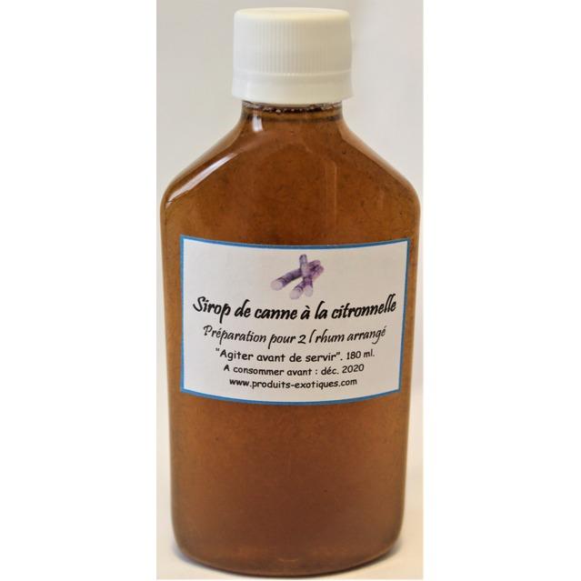 Sirop de canne à la citronnelle, 180 ml