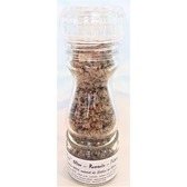 ''Sel fou'' Olive - Romarin - poivre © au gros sel gemme de source 100% naturel , moulin en verre rechargeable 85 gr.