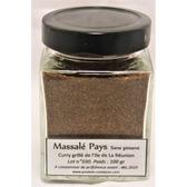 Massalé Pays(curry grillé) de la Réunion, sans piment, pot en verre de 100 gr