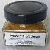 Massala Mild 1/2 piment, Mélange d'épices 50 gr dans pot en verre