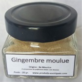Gingembre moulue, 35 gr dans pot en verre.