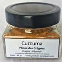 Curcuma de la Réunion, Safran jaune, 45 gr dans pot en verre
