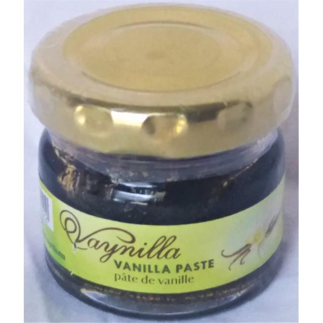 Pâte de Vanille Bourbon fraiche, 100 % pur et naturelle, pot en verre de 25 grammes.