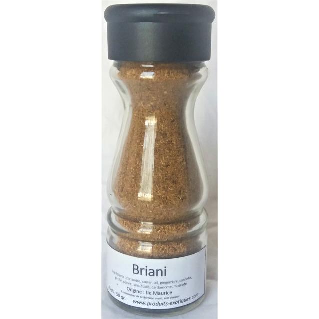 Briani special mélange d'épices dans saupoudreur en verre, 50 gr