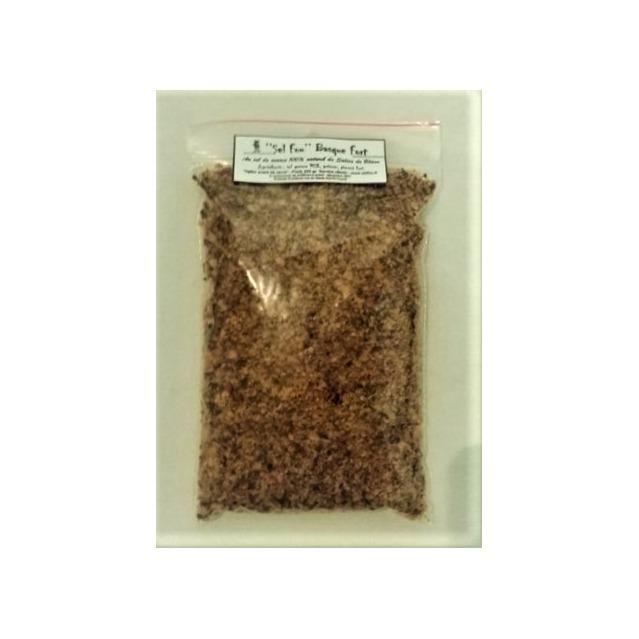 ''Sel fou'' Basque (piment) fort au gros sel de source 100% naturel de Salies de Béarn, recharge 225 gr