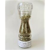 ''Sel fou'' Dourmidou (tomme de chèvre) à l'ail des ours © au gros sel de source 100% naturel , moulin en verre 85 gr